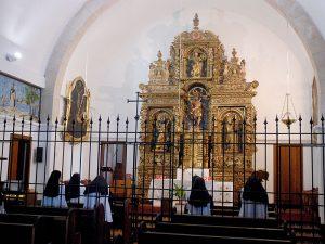 Interior de l'església de Sant Cristòfol, annexa al convent