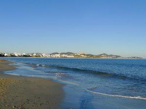Platja d'en Bossa és el major arenal de l'illa
