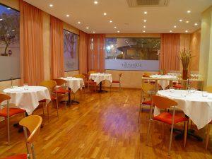Menjador del restaurant S'Ametller, al barri des Pratet
